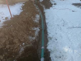 30 foot sump pump line
